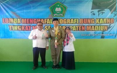 Juara Lomba Menghafal Biografi Bung Karno Tingkat MTs Se-Kabupaten Madiun
