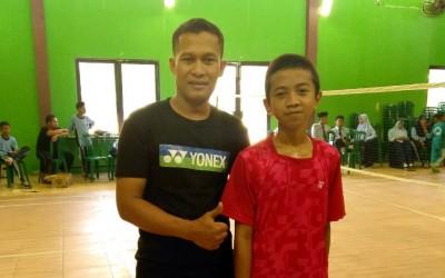 Diyno, Juara Bulutangkis Porseni MTs 2019 Kabupaten Madiun